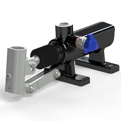 Насос двустороннего действия для цилиндра одностороннего действия с фланцевым креплением к стенке серии HP 20