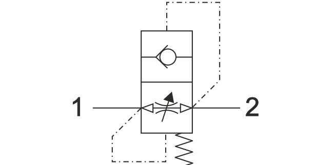 ACV-DIN-2353 Прямой предохранительный клапан
