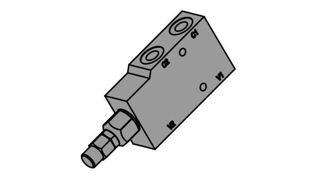 LHV-1 Тормозной односторонний клапан
