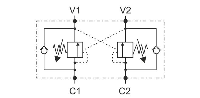 LHV-2-FL гидросхема