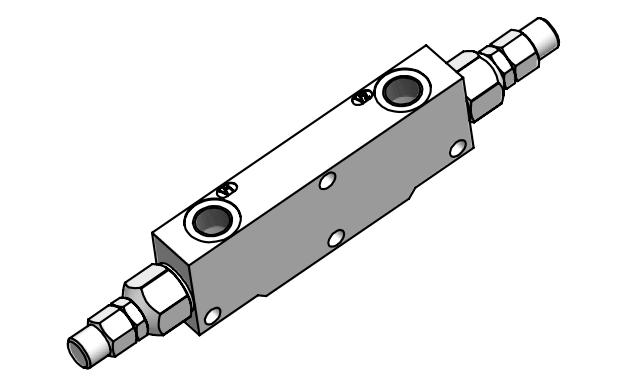 LHV-2-SS Тормозной двусторонний клапан <br>(компактное исполнение)