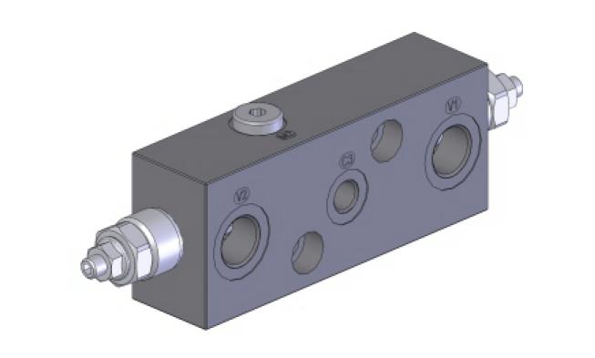 LHV-2-FL/OMS-SF Тормозной двусторонний клапан для моторов Danfoss OMS