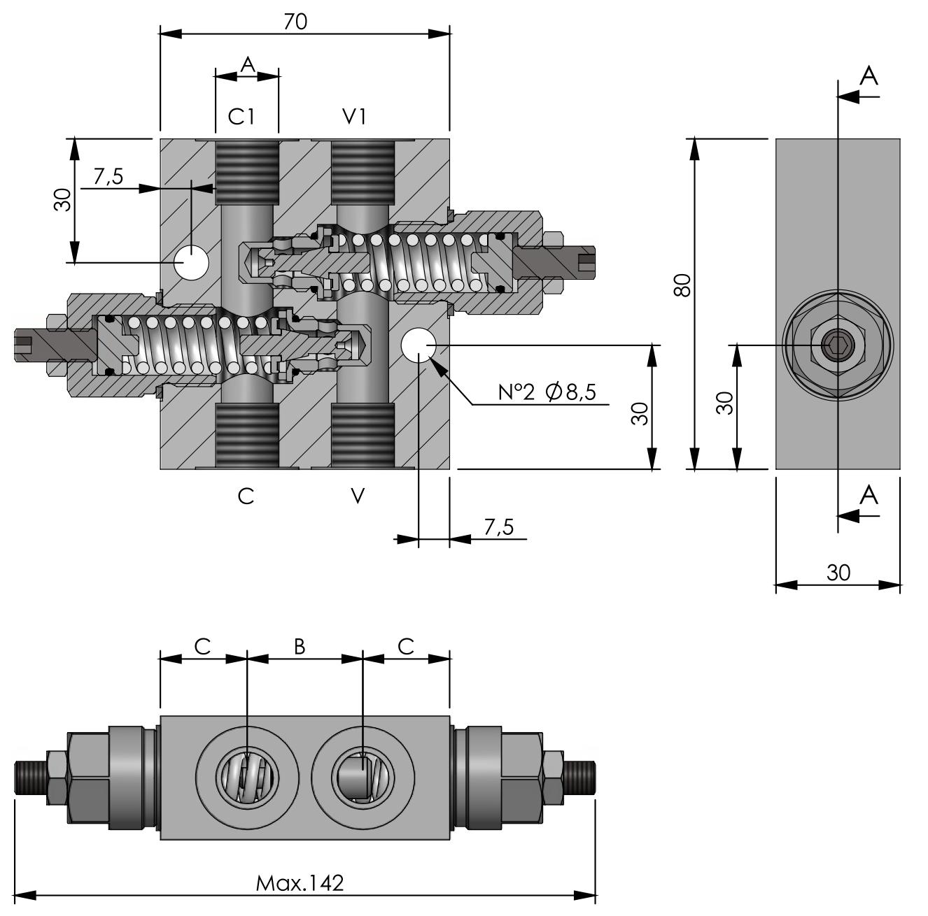 RVD-DI-SC-40-180° схема