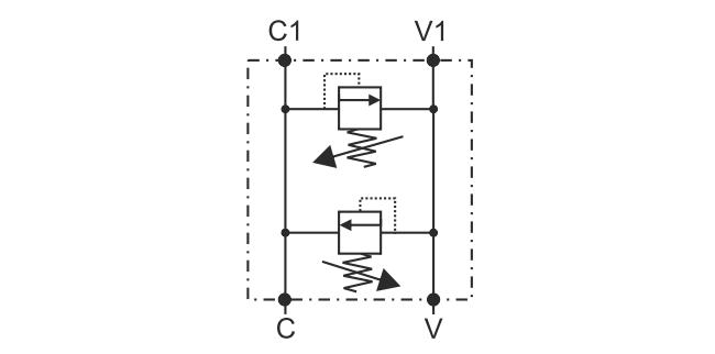 RVD-FL-SC-OMP-OMR-40 Перекрёстный предохранительный клапан для моторов DANFOSS серий OMP/OMR