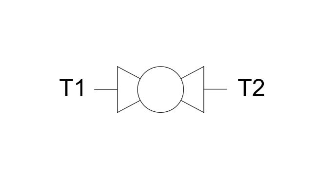 Кран шаровый 2-х ходовой BSPP (DIN ISO 228)
