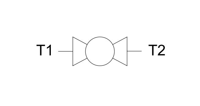 Кран шаровый 2-х ходовой (DIN 2353 M-M типа)