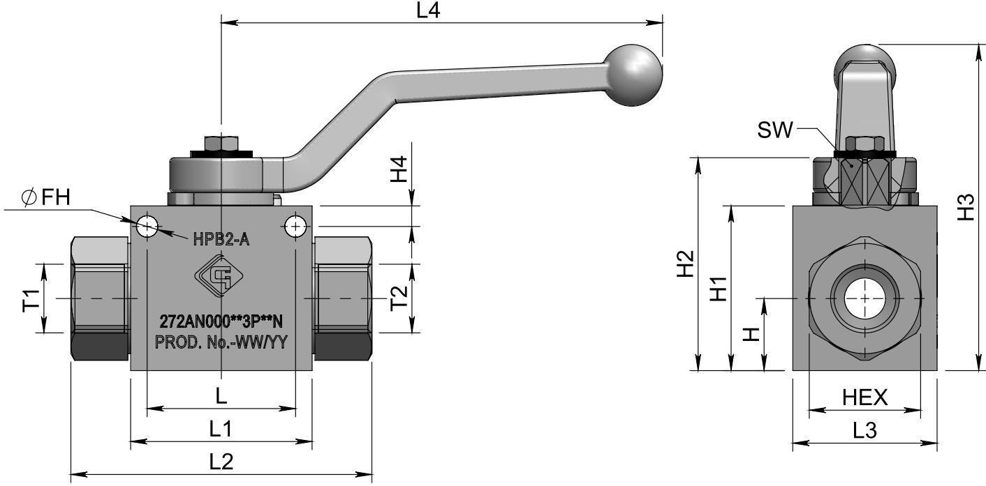 HPB2-B (SAE) схема