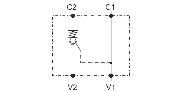 POC-1 Односторонний гидрозамок