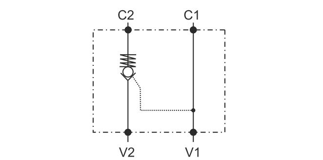POC-1-S-DIN2353 Односторонний гидрозамок с накидной муфтой