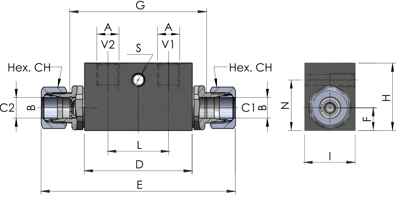 POC-1-S-DIN2353 схема