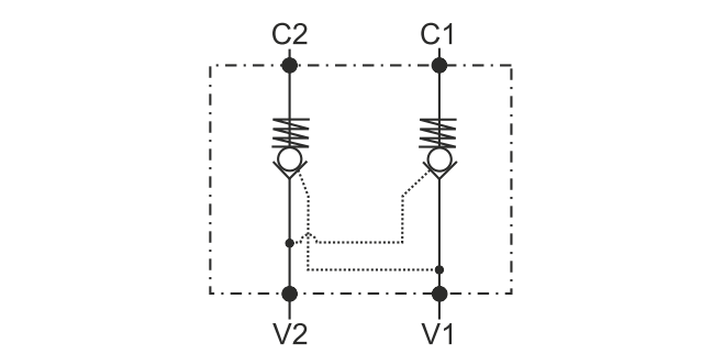 POC-2 Двусторонний гидрозамок