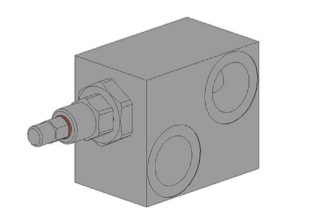Дифференциальный предохранительный клапан с отверстием под манометр RVDD-M-160.2