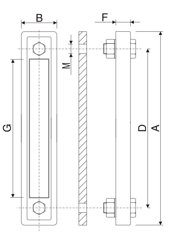 Визуальный указатель уровня масла LGN с плоским уплотнением
