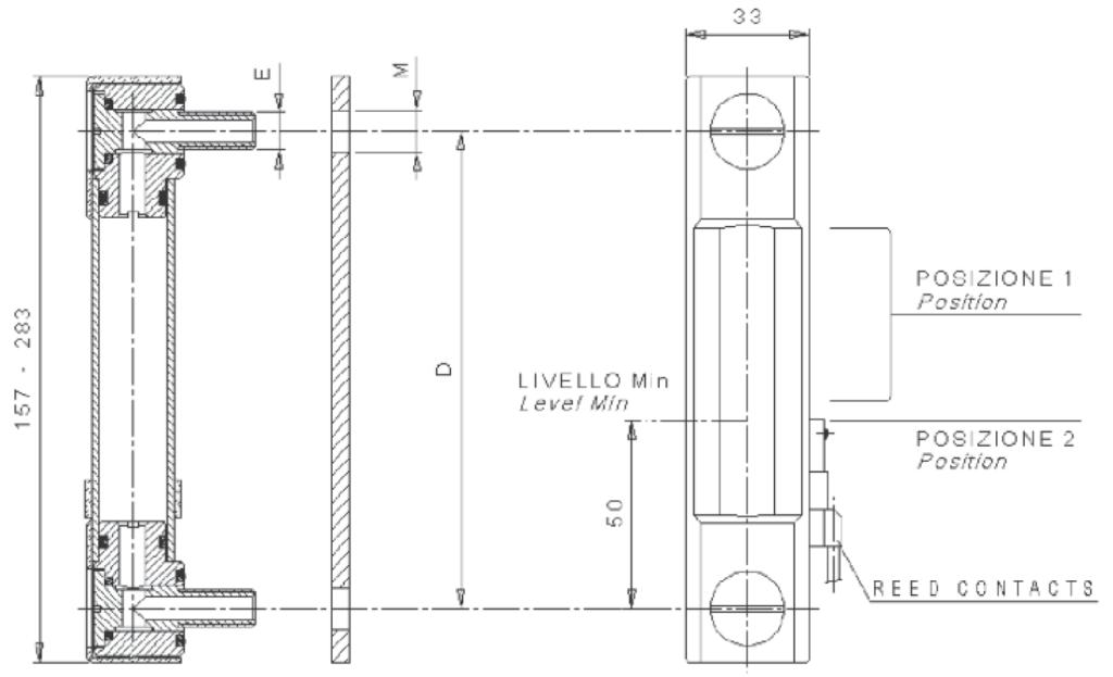 Визуальный - электрический указатель уровня масла LV*E