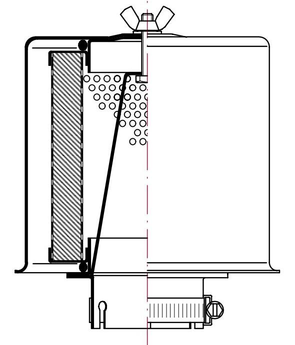 Сухой всасывающий воздушный фильтр-сапун FAS
