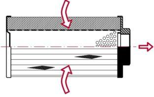 Фильтр всасывающий, погружаемый (металлическая и пластиковая версия) FR-FRP