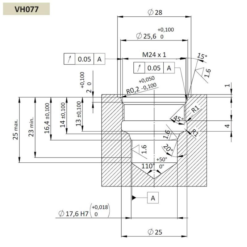 Обратный клапан CVP0.M24, Картриджный тип