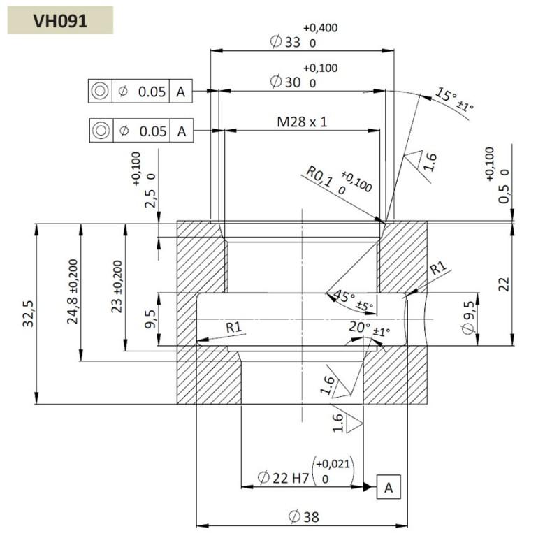 Обратный клапан CVP0.M28, Картриджный тип