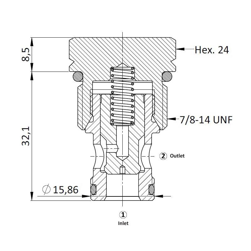 Обратный клапан CVC0.S10, Картриджный тип