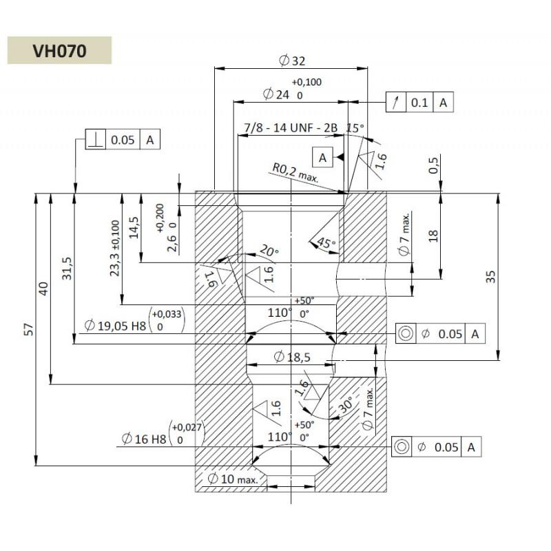 Гидрозамок SPC5.S10, Картриджный тип