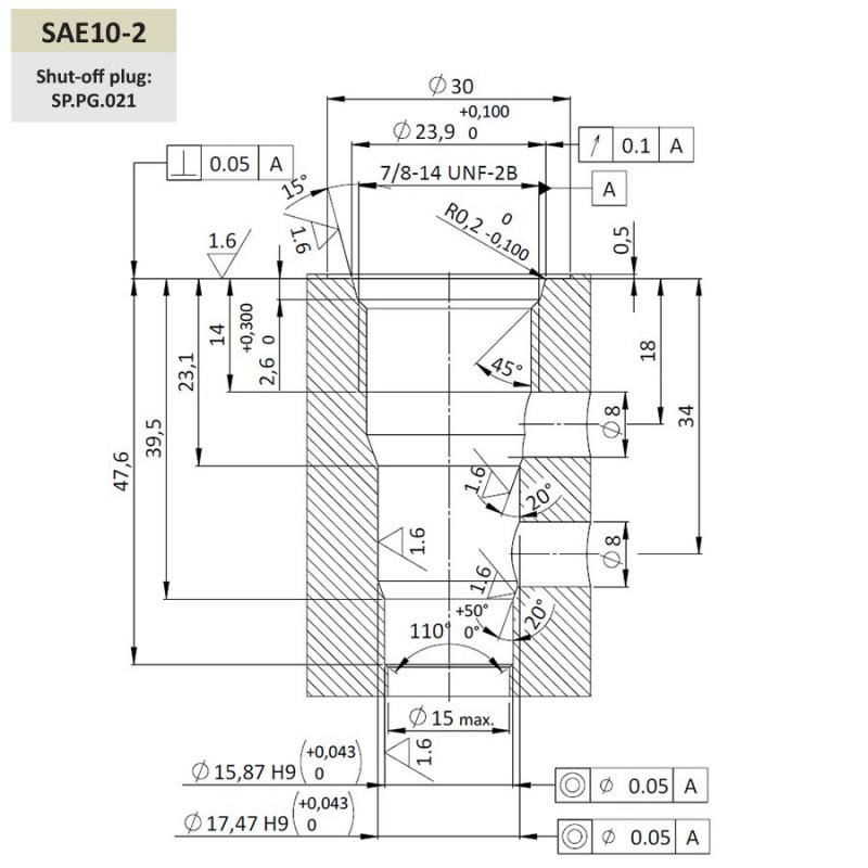 Гидрозамок SPC6.S10, Картриджный тип